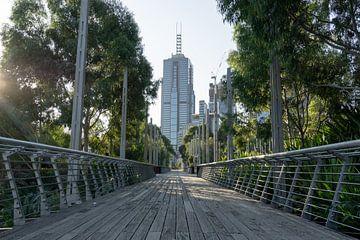 Weg naar Melbourne centraal, Australië van mitecaptures