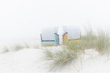 Strandstoelen Helgoland van Ingrid Van Damme fotografie