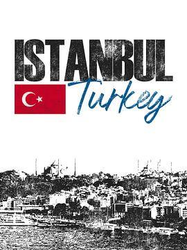 Istanbul Turquie sur Printed Artings