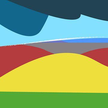 Landschap kleurrijk van Nicole Roozendaal