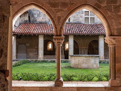 Interieur van het klooster Abbaye de Flaran in Frankrijk