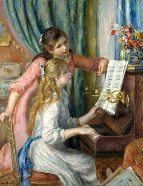 Twee Jonge Meisjes bij de Piano, Auguste Renoir van Meesterlijcke Meesters