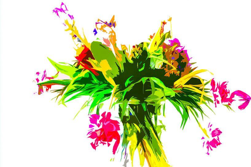 Des fleurs dans un vase. La photo a été modifiée. sur Maerten Prins