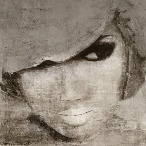Jolie Grey sur Paint- Ing