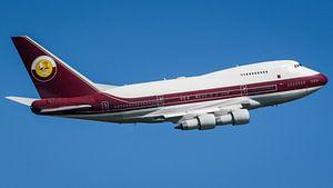 Boeing 747SP takeoff van Parijs Le Bourget