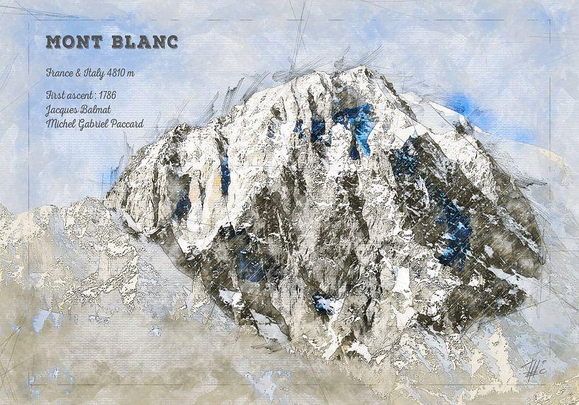 Mont Blanc, Frankreich / Italien von Theodor Decker
