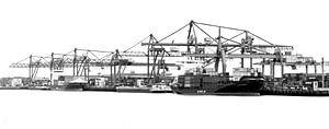 Rotterdamse Haven zwart wit van