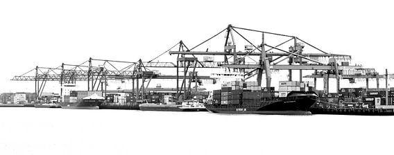 Rotterdamse Haven zwart wit