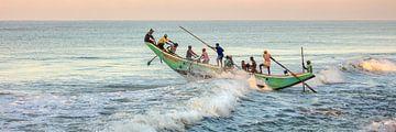 Fischer in Waduwa, Sri Lanka von Frans Lemmens