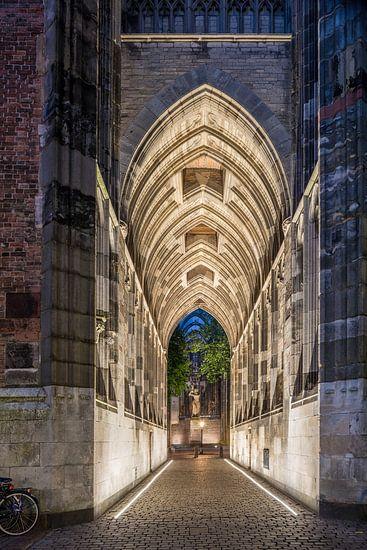 Le passage souterrain de la tour Dom Utrecht.