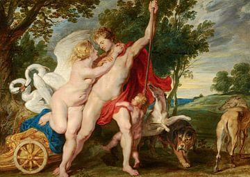 Peinture, Vénus tente d'empêcher Adonis de chasser sur Atelier Liesjes