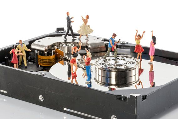 dansfeest in een harddisk