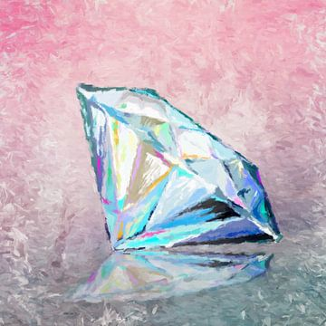 Diamant-abstrakt van Marion Tenbergen