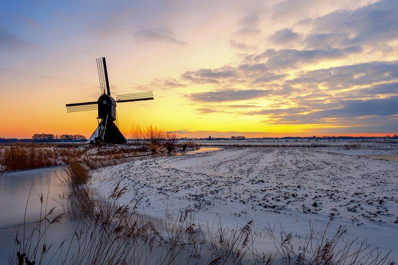 Winters in Nederland van Maikel Brands