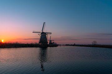 Zonsopkomst Kinderdijk van Inge van der Stoep