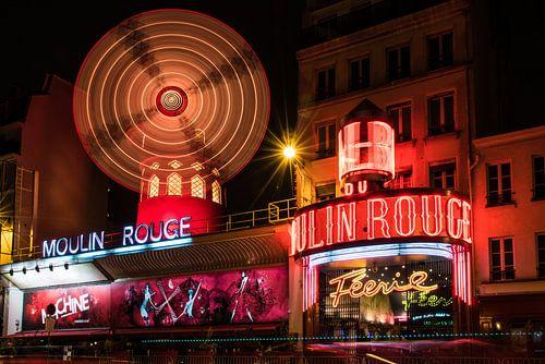 Moulin Rouge in Parijs Frankrijk van
