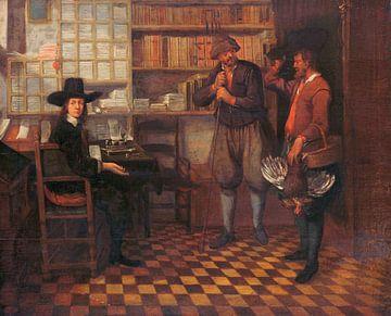 Le loyer du fermier locataire, Quiringh Gerritsz. van Brekelenkam sur