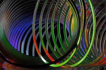 Spiraalveren in frisse kleuren voor modern interieur! van Wim Bodewes