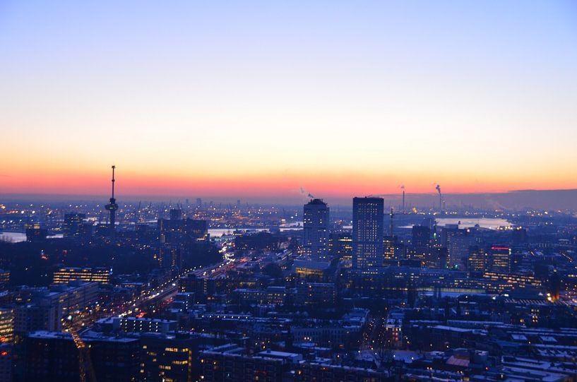 Winter Chill  in Rotterdam van Marcel van Duinen