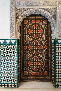 Moorse deur in het paleis Real Alcazar van André Scherpenberg