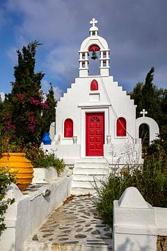 Farbenfrohe Kapelle auf Mykonos, Griechenland von Adelheid Smitt