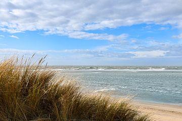 Uitzicht over de Noordzee aan de Zeeuwse kust