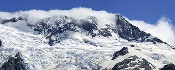 Snow covered mountains - Nieuw Zeeland sur Jeroen van Deel