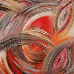abstrakt in rot von Helma 't Lam