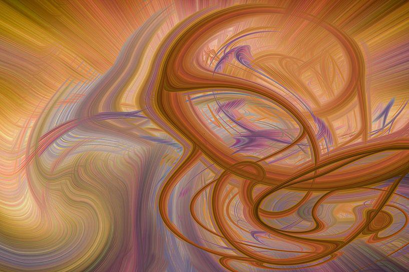 Digital abstract nr 6 van Leo Luijten