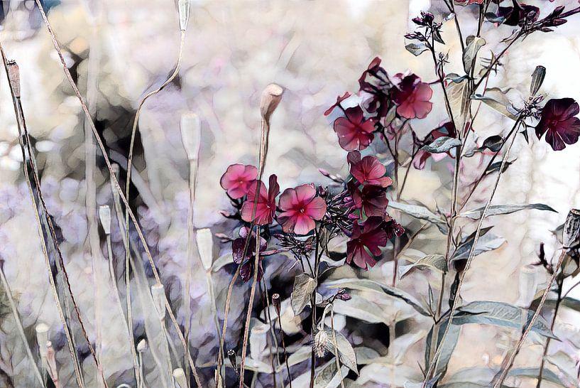 Blumenkomposition Aquarellmalerei von Patricia Piotrak