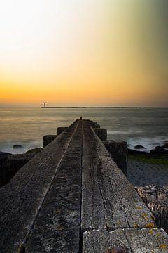 Sunset ; jetty  sur PJS foto
