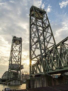 Eisenbahnbrücke Rotterdam von Rob Rijfkogel