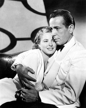 Ingrid Bergman en Humphrey Bogart, Casablanca 1943 van Bridgeman Images