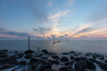 Zonsopkomst IJsselmeer van Leo Kramp Fotografie