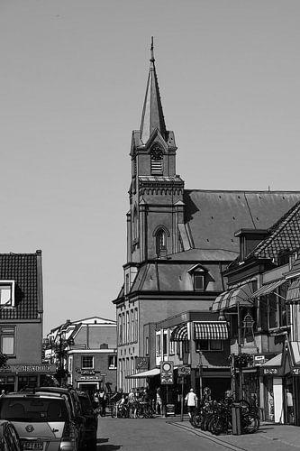 Tekening Egmond aan Zee Nederland  Pentekening Sepia Lijntekening