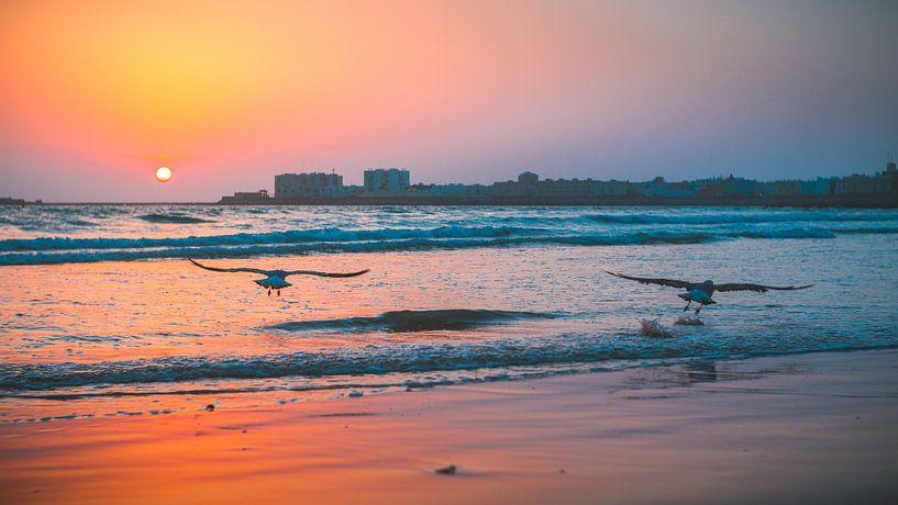 Costa de la Luz zonsondergang van Andy Troy