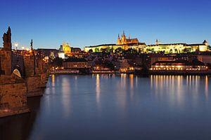 Praag - Vltava-rivier, Karelsbrug, oude stad en kasteel