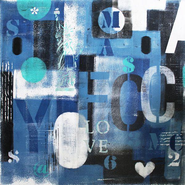 Blaue Briefe NYC von Kathleen Artist Fine Art