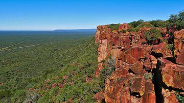 De rode rotsen van de Waterberg