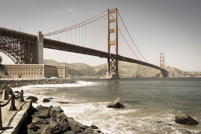 Golden Gate Bridge, San Francisco van Inge van den Brande