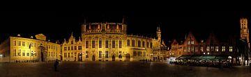 Brugge, Burg panorama van Michel De Pourcq