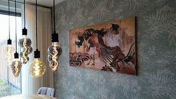 Kundenfoto: Faltwand mit Design von chinesischen Phönixen, Kano-Schule