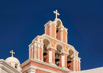 Glockenturm auf Santorin, Griechenland von Adelheid Smitt