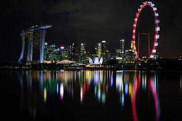 Skyline van Singapore van Jesper Boot