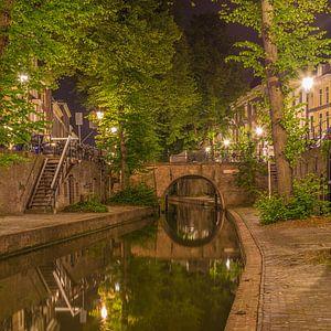 Nieuwegracht in Utrecht in de avond - 14