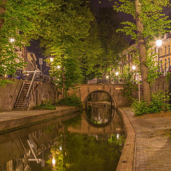 Nieuwegracht in Utrecht in de avond - 14 van Tux Photography
