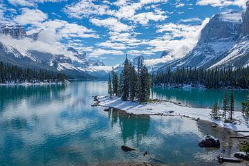 Spirit Island, Canadian Rockies van Erik Noort