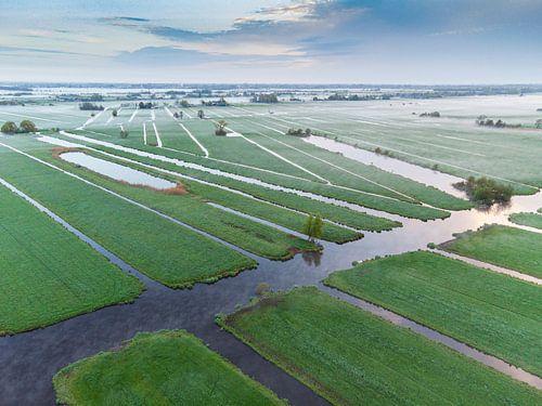 Ochtend over de polder.