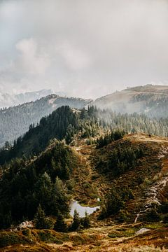 Blick über den Berg in Zell am See, Österreich (Alpen) von Yvette Baur