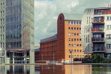 Moderne architectuur, Paleiskwartier, 's-Hertogenbosch, Nederland van Marcel Bakker